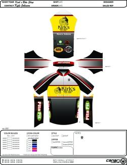 Bike Jersey design for local bike shop
