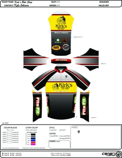 Bike Jersey design for local bike shop