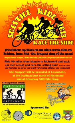 Muncie Bike Event Poster